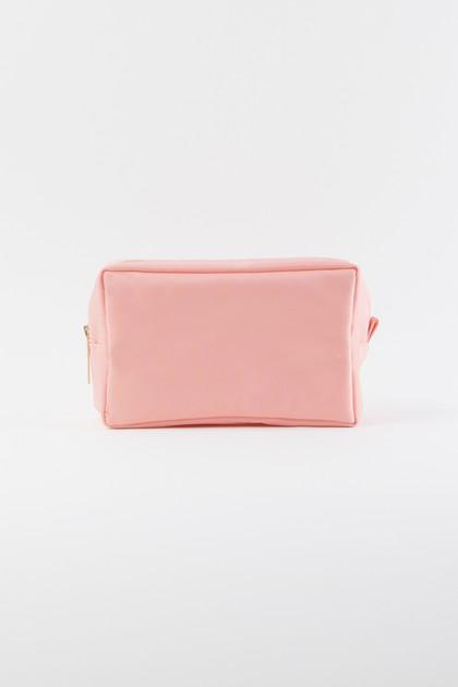 Nylon Makeup Bag - Pink