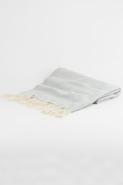 Herringbone Oversized Pashmina - Light Gray