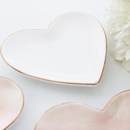 Heart Shaped Catchall Tray - White