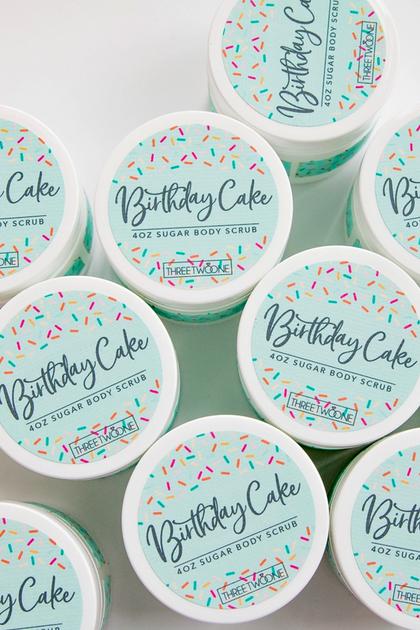 Birthday Cake Sugar Scrub 2oz
