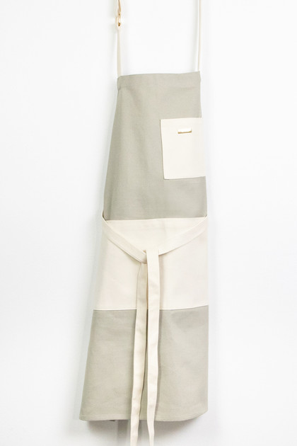 Colorblock Apron - Gray