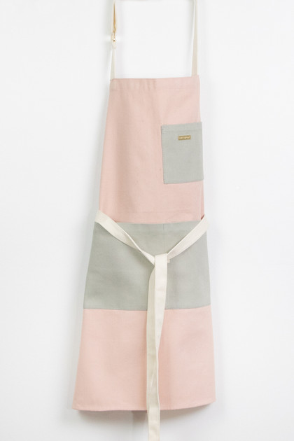 Colorblock Apron - Blush Pink