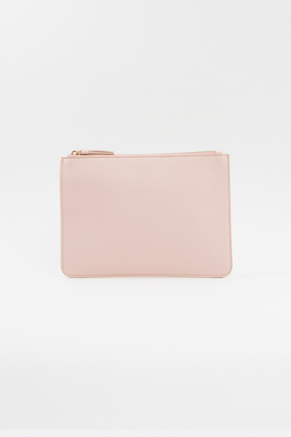 Vegan Leather Clutch - Blush