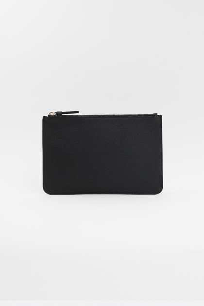 Vegan Leather Clutch - Black
