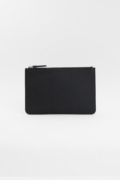 Vegan Leather Clutch - Black