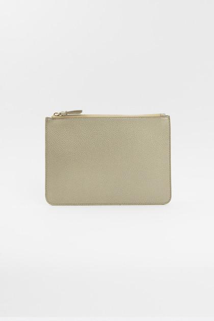 Vegan Leather Clutch - Gold