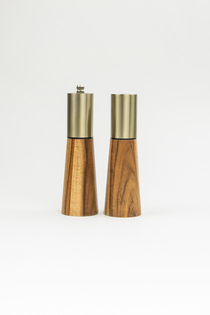 Acacia Wood Salt and Pepper Shaker Set