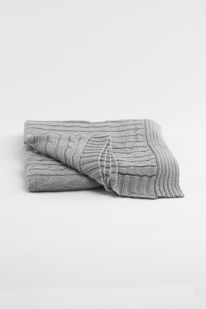 Heirloom Keepsake Baby Blanket - Gray