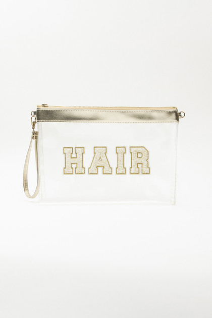 Clear Travel Bag - Gold