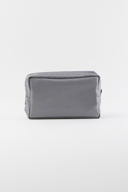 Nylon Makeup Bag - Gray