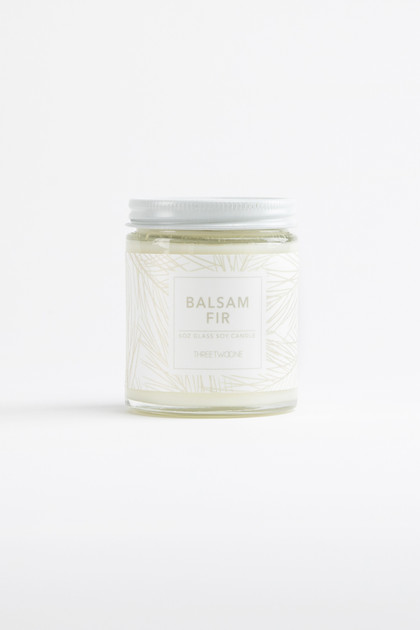 Balsam Fir Glass Jar Soy Candle - 6oz