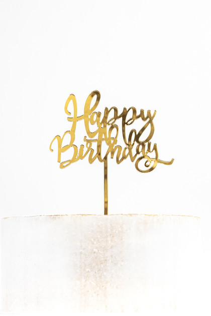 Acrylic Cake Topper - Happy Birthday