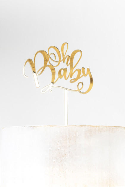 Acrylic Cake Topper - Oh Baby