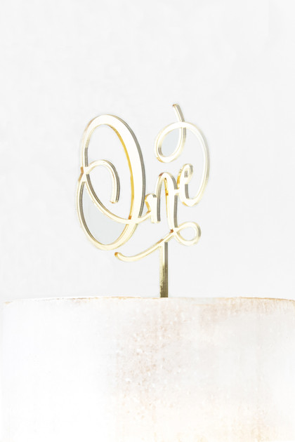 Acrylic Cake Topper - One