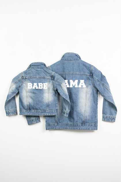 Mommy and Me Denim Jackets - Mama and Babe