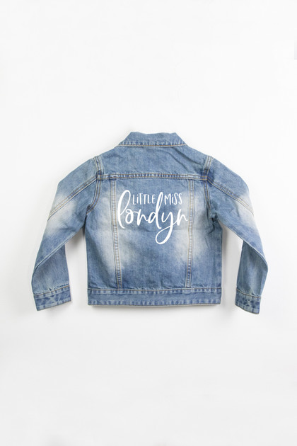 Girls Denim Jacket - Personalized