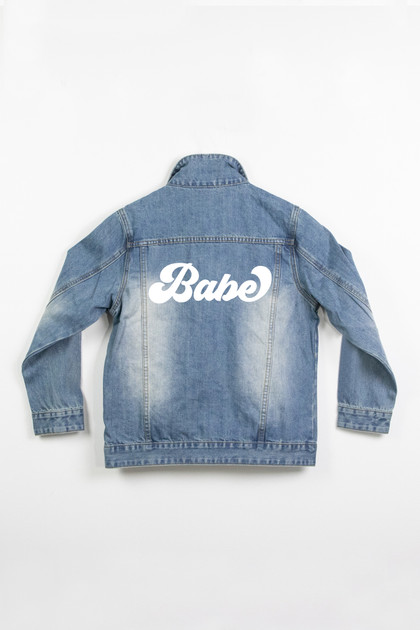 Ladies Denim Jacket - Babe