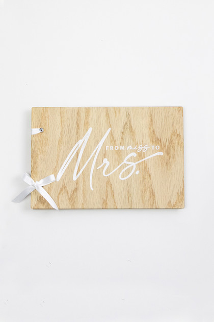 Wooden Guestbook - Miss to Mrs