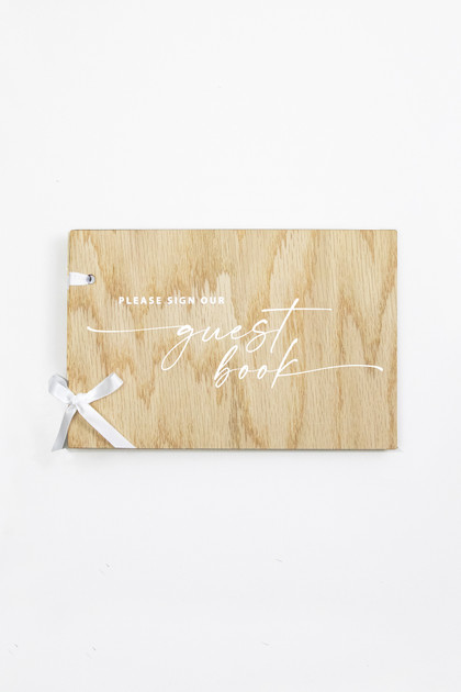 Wooden Guestbook - Wedding