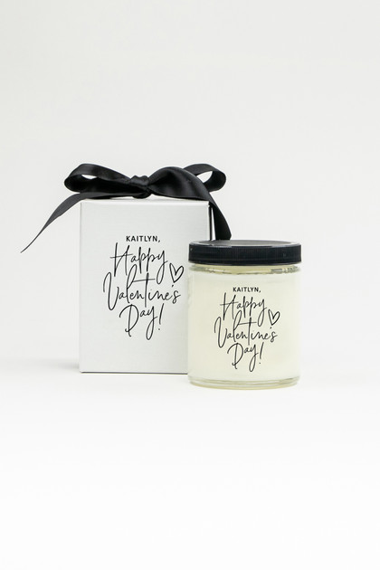 Personalized Soy Candle - Happy Valentine's Day
