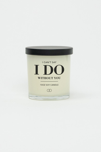 Celebration Glass Soy Candle - Can't Say I Do (Black)