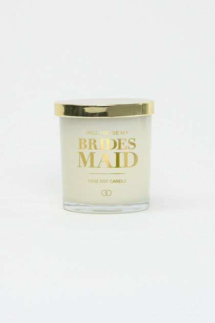 Celebration Glass Soy Candle - Bridesmaid (Gold)
