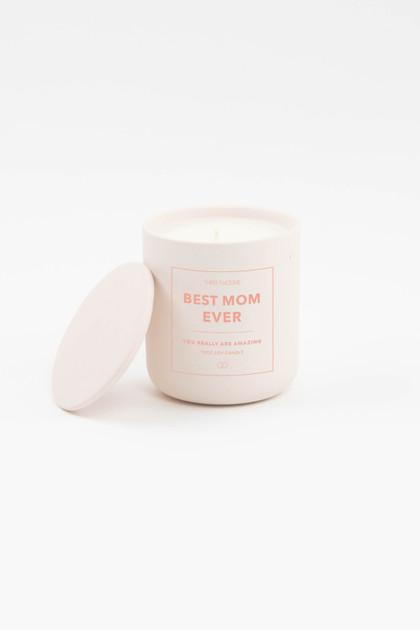 Celebration Ceramic Candle - Best Mom