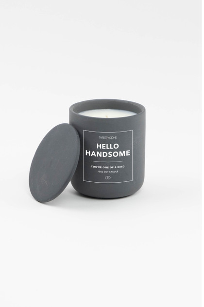 Celebration Ceramic Candle - Hello Handsome