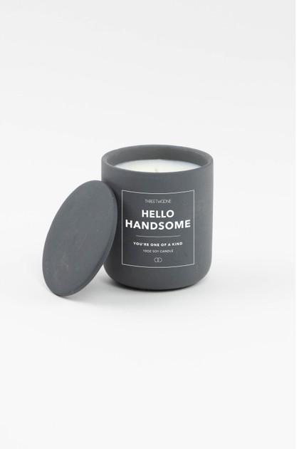 Celebration Ceramic Candle - Hello Handsome