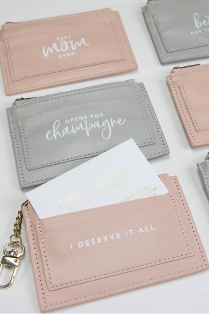 Vegan Leather Credit Card Keychain