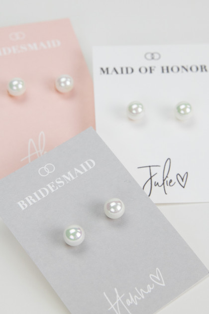 Bridal Party Pearl Earrings