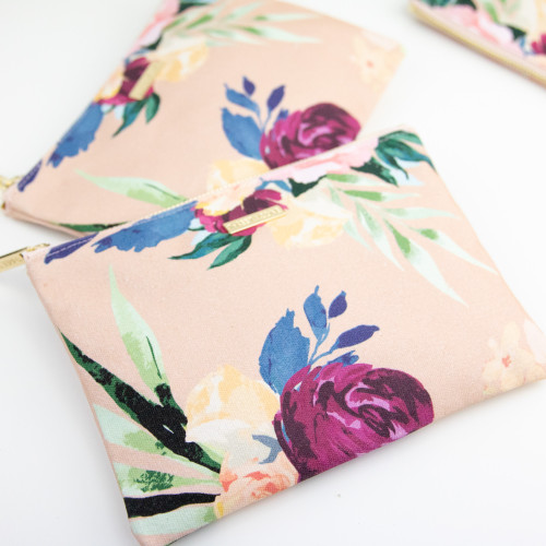 Floral Print Makeup Bag Cosmetic Bag