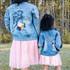 Little Miss Flower Girl Denim Jacket