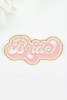 Embroidery Adhesive Bridal Patch - Bride