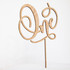 Wooden Cake Topper - One