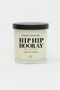 Hip Hip Hooray Glass Soy Candle (Black)