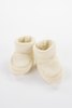 Ivory Knit Baby Booties