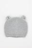 Gray Knit Baby Bear Beanie