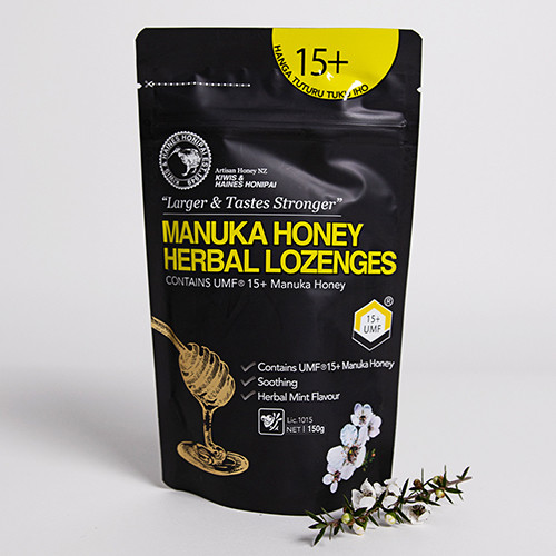1 x Box Mānuka Honey Lozenges UMF 15+ 150g (24 packs per box)