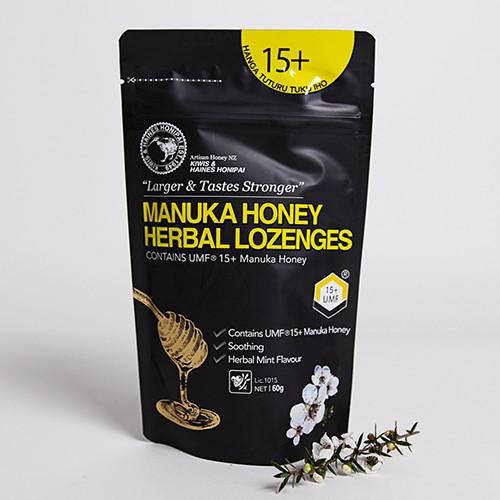 1 x Box Mānuka Honey Lozenges UMF 15+ 60g (40 packs per box)