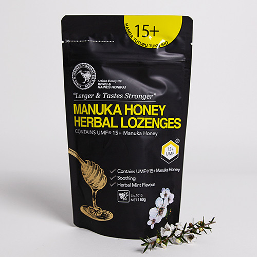 1 x Box Mānuka Honey Lozenges UMF 15+ 60g (40 packs per box)