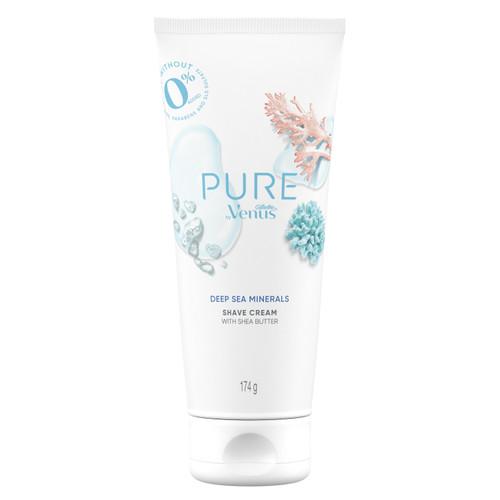 PURE by Venus Shaving Cream, Deep Sea Minerals 177mL