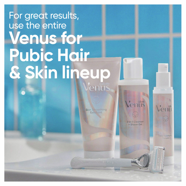 Venus 2 in 1 Cleanser + Shave Gel for Pubic Hair & Skin 190 mL