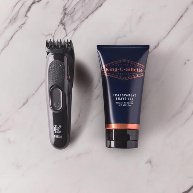 KCG Beard Trimmer & Transparent Shave Gel Kit