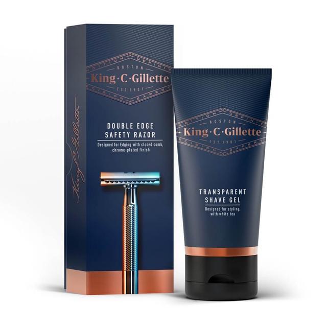 Double Edge Safety Razor & Transparent Shave Gel Kit