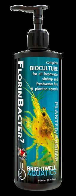 Brightwell Aquatics Shrimp FlorinBacter7 - Complete Bioculture for Freshwater Shrimp Fish and Planted Aquaria