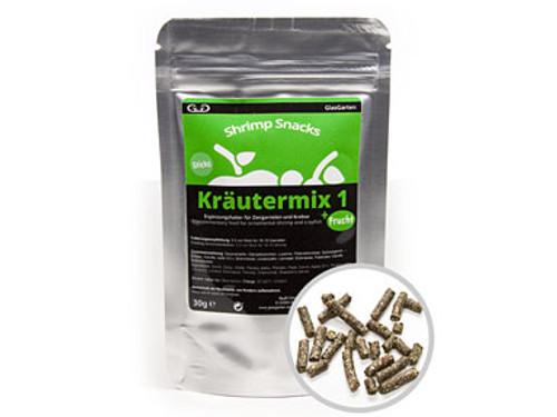 GlasGarten Shrimp Snacks Kräutermix 1 +Frucht 30g