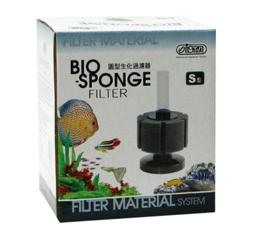 Ista Bio Sponge Filter - Round Bio Foam - Small (up to 10 gallon)