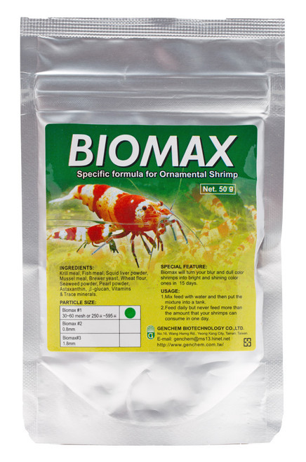 Genchem Biomax-1 50g (for Baby Shrimp Improve Survival Rate)