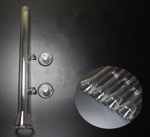 Aquarium Glass Feeding Tube Straight with Trumpet Open - 25cm
